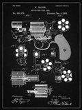 Revolving Fire Arm Patent - Vintage Black