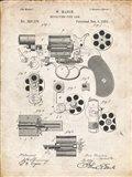 Revolving Fire Arm Patent - Vintage Parchment