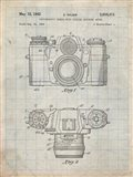Photographic Camera With Coupled Exposure Meter Patent - Antique Grid Parchment