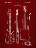 Guitar Patent - Burgundy
