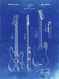 Guitar Patent - Faded Blueprint