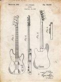 Guitar Patent - Vintage Parchment