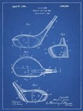 Metallic Golf Club Head Patent - Blueprint