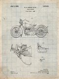 Cycle Support Patent - Antique Grid Parchment