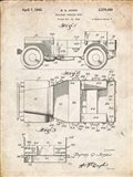 Military Vehicle Body Patent - Vintage Parchment