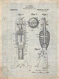Explosive Missile Patent - Antique Grid Parchment