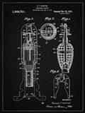 Explosive Missile Patent - Vintage Black