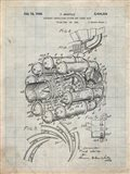 Aircraft Propulsion & Power Unit Patent - Antique Grid Parchment
