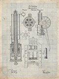 Machine Gun Patent - Antique Grid Parchment
