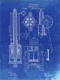 Machine Gun Patent - Faded Blueprint