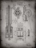 Machine Gun Patent - Faded Grey