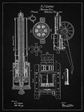 Machine Gun Patent - Vintage Black