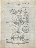 Bicycle Patent - Antique Grid Parchment
