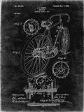Bicycle Patent - Black Grunge