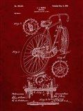 Bicycle Patent - Burgundy
