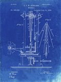 Windmill Patent - Faded Blueprint