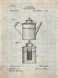 Coffee Percolator Patent - Antique Grid Parchment