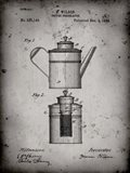 Coffee Percolator Patent - Faded Grey