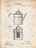 Coffee Percolator Patent - Vintage Parchment