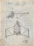 Direct-Lift Aircraft Patent - Antique Grid Parchment