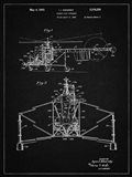 Direct-Lift Aircraft Patent - Vintage Black
