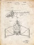 Direct-Lift Aircraft Patent - Vintage Parchment