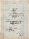 Amphibian Aircraft Patent - Antique Grid Parchment