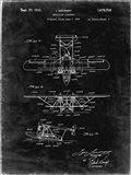 Amphibian Aircraft Patent - Black Grunge