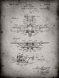 Amphibian Aircraft Patent - Faded Grey
