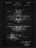 Amphibian Aircraft Patent - Vintage Black