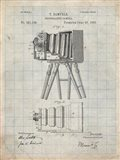 Photographic Camera Patent - Antique Grid Parchment