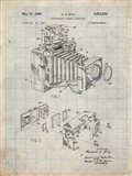 Photographic Camera Accessory Patent - Antique Grid Parchment