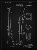 Semi-Automatic Rifle Patent - Vintage Black