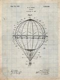 Balloon Patent - Antique Grid Parchment