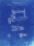 Sewing Machine Patent - Faded Blueprint