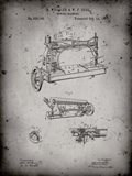 Sewing Machine Patent - Faded Grey