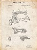 Sewing Machine Patent - Vintage Parchment