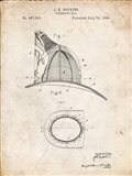Fireman's Hat Patent - Vintage Parchment
