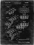 Toy Building Brick Patent - Black grunge