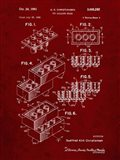 Toy Building Brick Patent - Burgundy