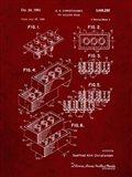 Toy Building Brick Patent - Burgundy