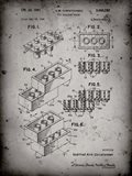 Toy Building Brick Patent - Faded Grey