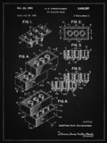 Toy Building Brick Patent - Vintage Black