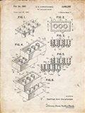 Toy Building Brick Patent - Vintage Parchment