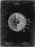 Golf Ball Patent - Black Grunge