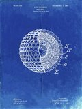 Golf Ball Patent - Faded Blueprint