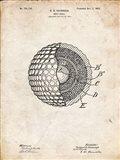 Golf Ball Patent - Vintage Parchment