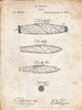 Cigar Patent - Vintage Parchment