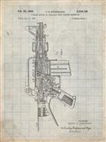 Firearm With Auxiliary Bolt Closure Mechanism Patent - Antique Grid Parchment
