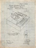 Type Writing Machine Patent - Antique Grid Parchment